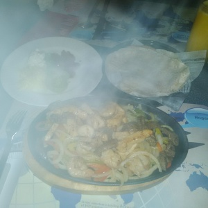 Sizzling Fajita Combo, Chicken and Shrimp